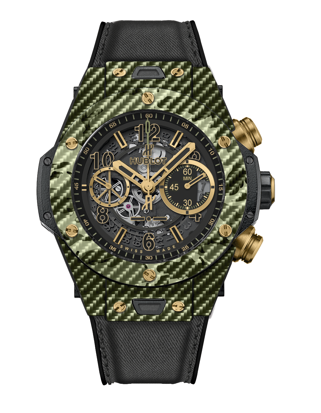 Hublot Big Bang Unico Italia Independent Green Camo Ref 411.YG.1198.NR.ITI16
