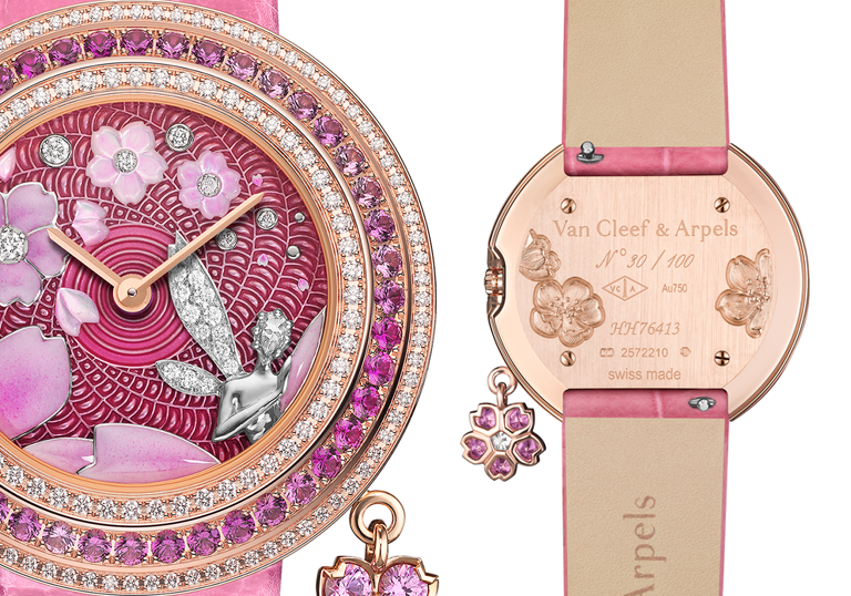 Van Cleef & Arpels Charms Extraordinaire Fée Sakura watch
