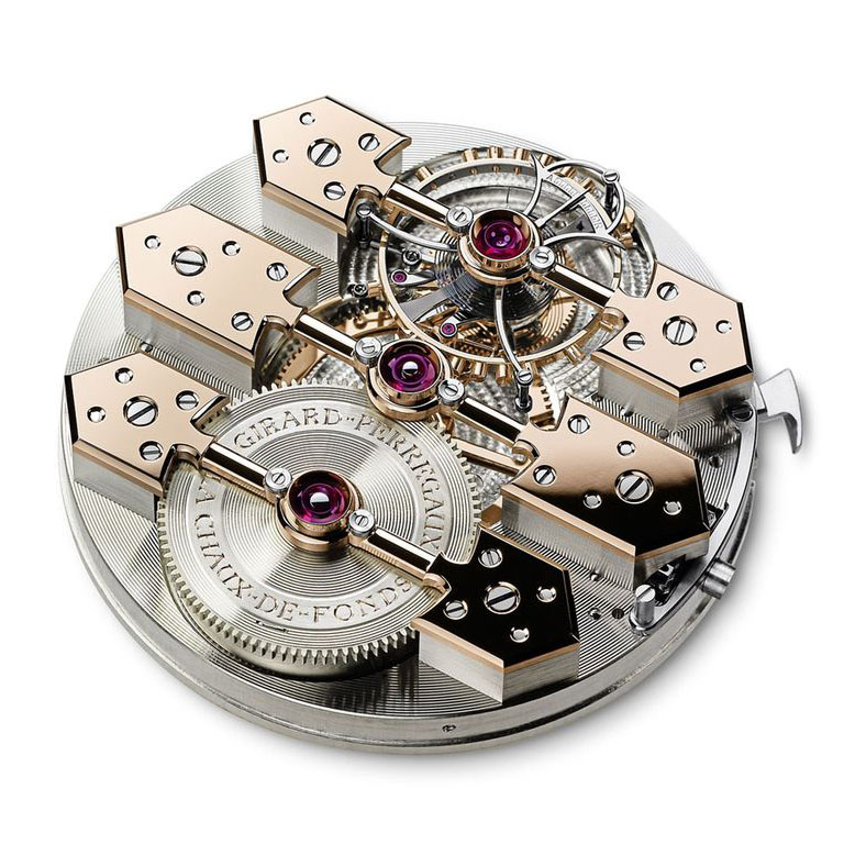 Механизм часов Girard-Perregaux 1966 Tourbillon Three Gold Bridges. Фото: пресс-служба Girard-Perregaux