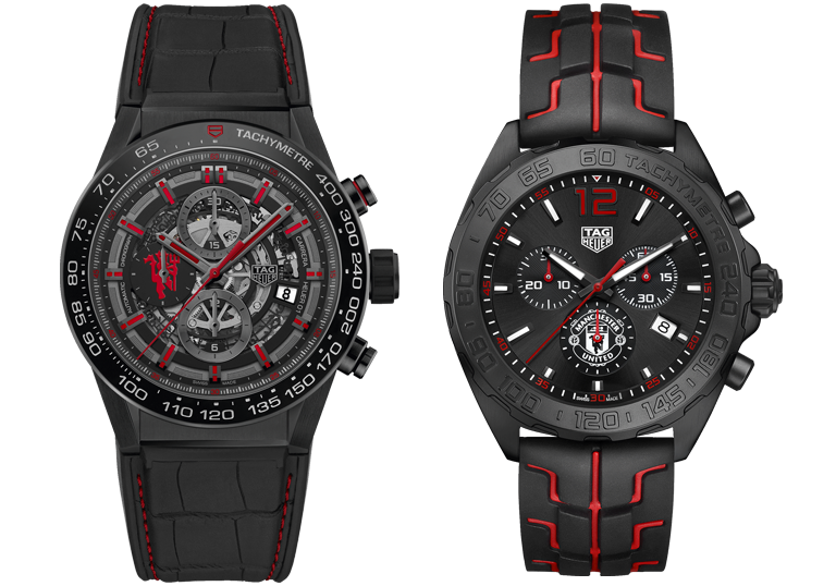 TAG Heuer Carrera Heuer 01 Manchester United и TAG Heuer Formula 1 Manchester United Chrono Quartz