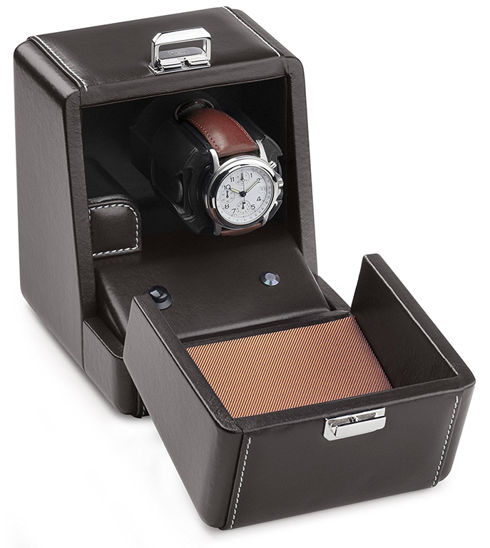 Scatola del Tempo Rotori 1RT Single Leather Programmable Watch Winder. Изображение: timescapeusa.com