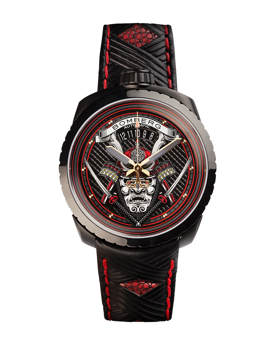Bomberg Bolt-68 black and red samurai automatic