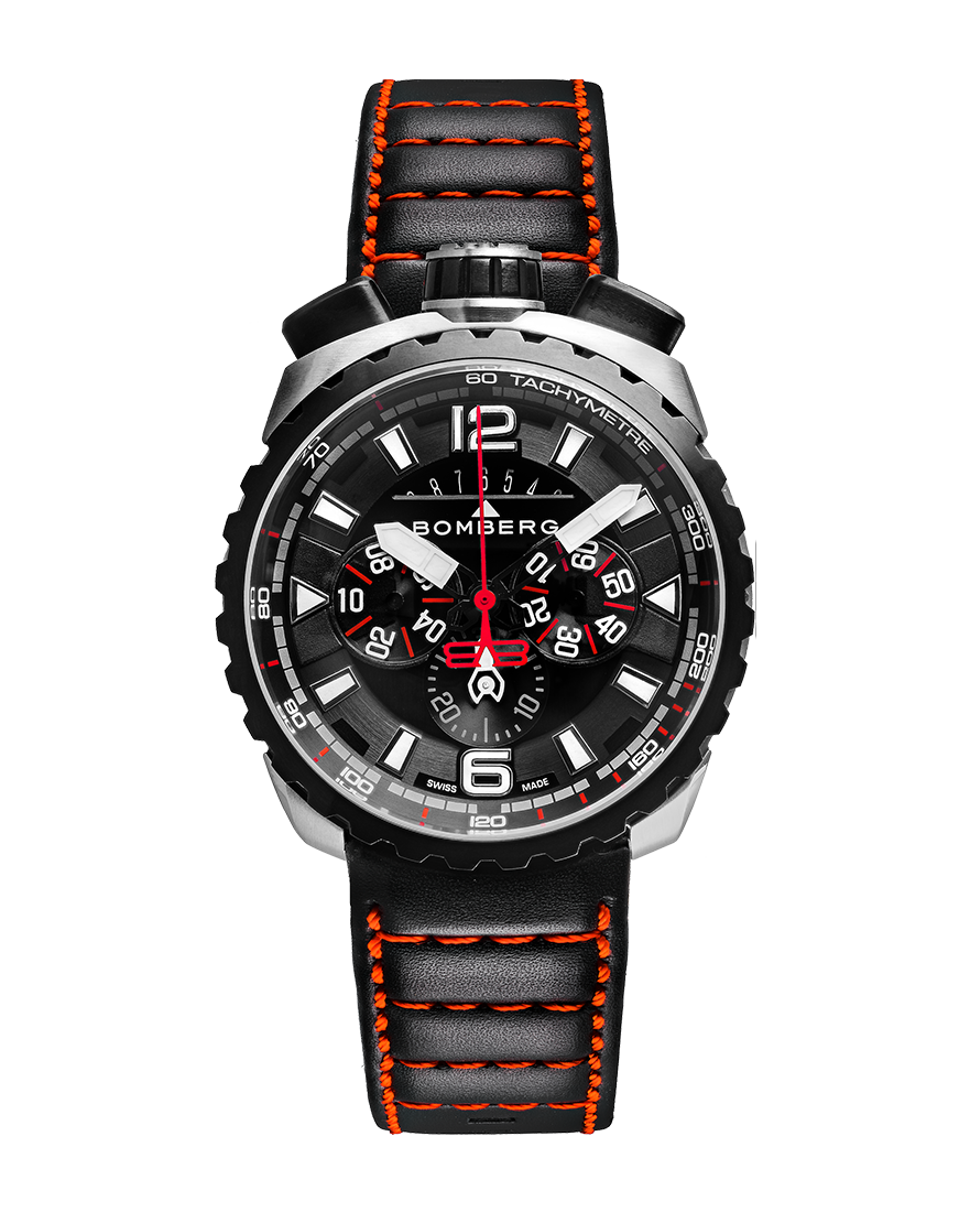 Bomberg Bolt-68 red and black sapphire chronograph