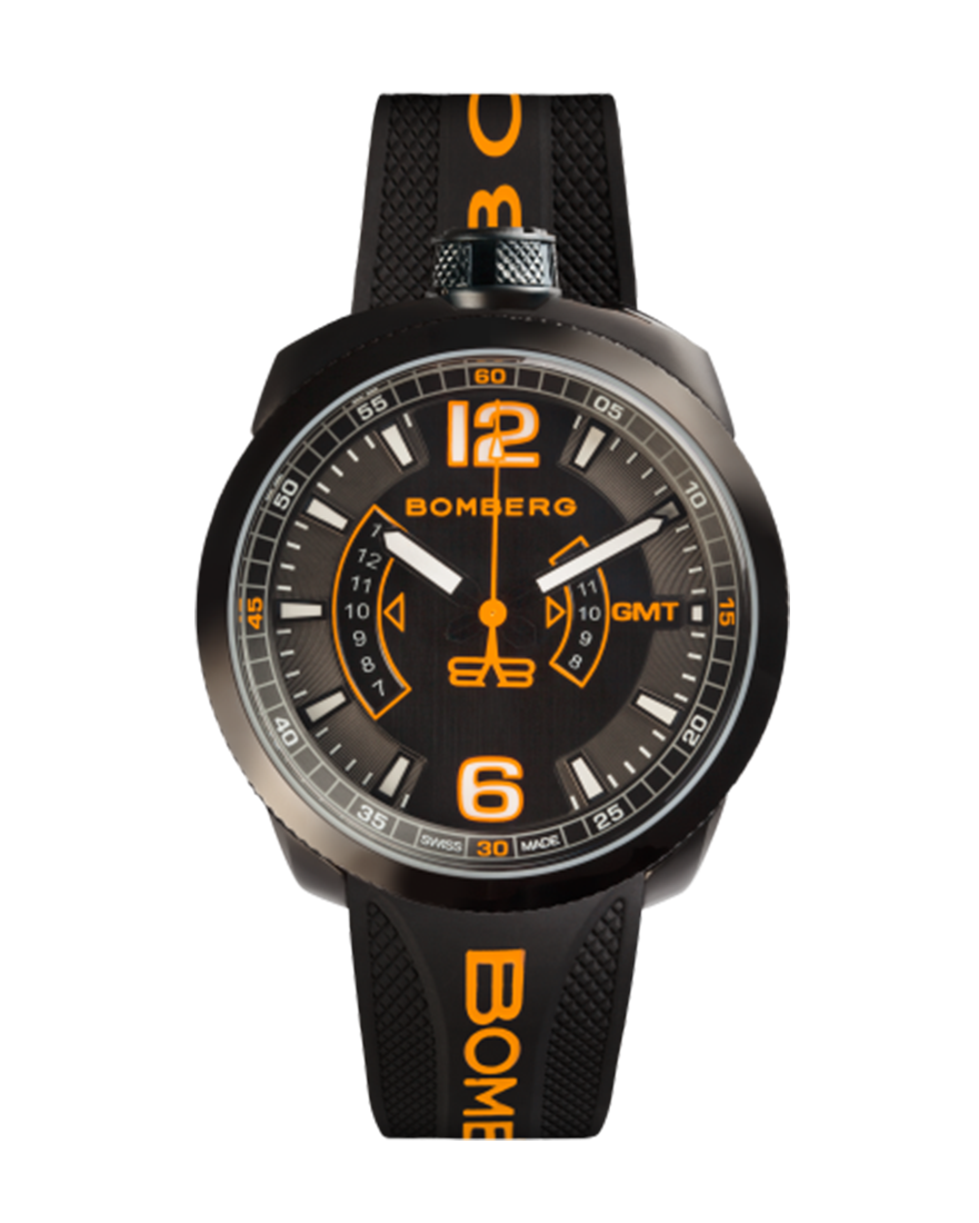 Bomberg Bolt-68 Black With Daring Orange Accents