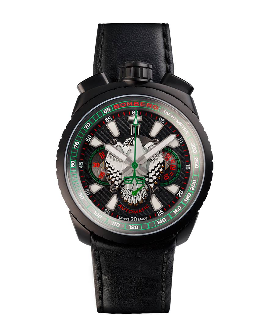 Bomberg Bolt-68 Falcon Black PVD Automatic Chronograph