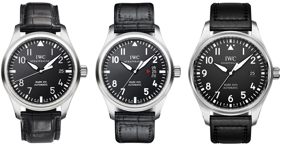 IWC Pilot's Watch Mark XVI, Mark XVII и Mark XVIII. Изображение: iwc.com