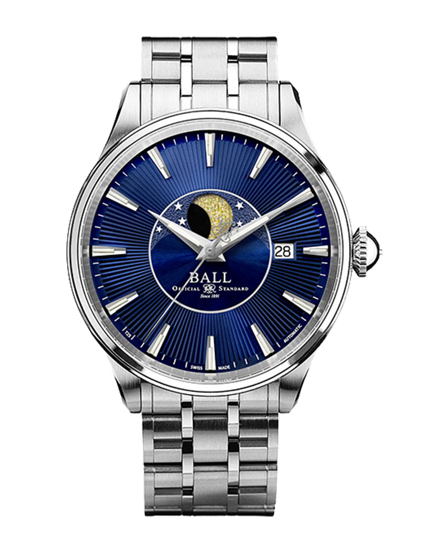 Ball Trainmaster Moonphase Ref NM3082D-SJ-BE