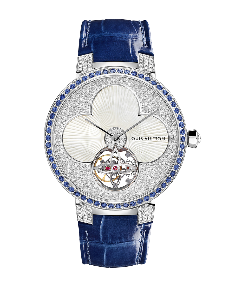 Louis Vuitton Tambour Monogram Sun Tourbillon Bleue