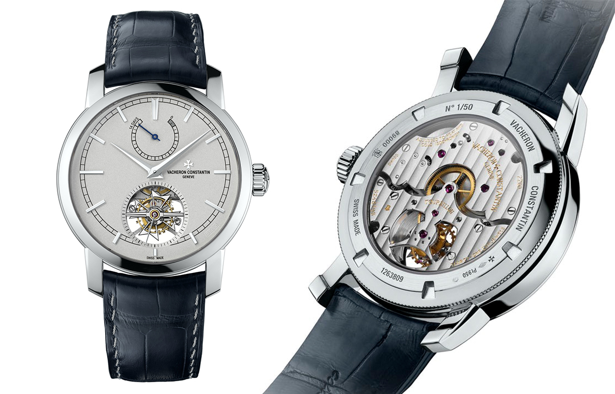 Платиновый турбийон Vacheron Constantin Patrimony Traditionnelle 14-Day Tourbillon Platine с 14-дневным запасом хода