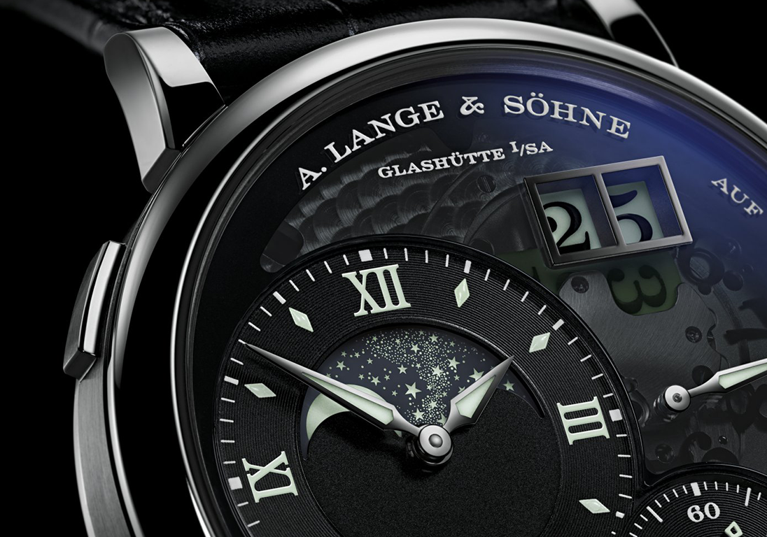 Циферблат часов А. Lange & Söhne Grand Lange 1 Moonphase Lumen