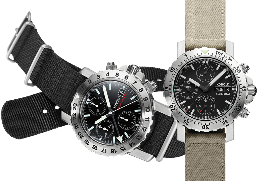 Kobold Polar Surveyor Chronograph, Kobold Phantom Chronograph Night Stalkers Edition
