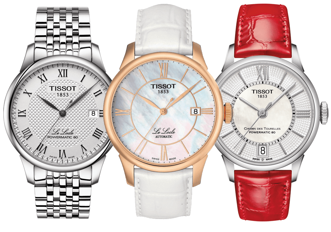 Tissot Le Locle Powermatic 80, Tissot Le Locle Automatic Lady II, Tissot Chemin de Tourelles Powermatic 80 Lady