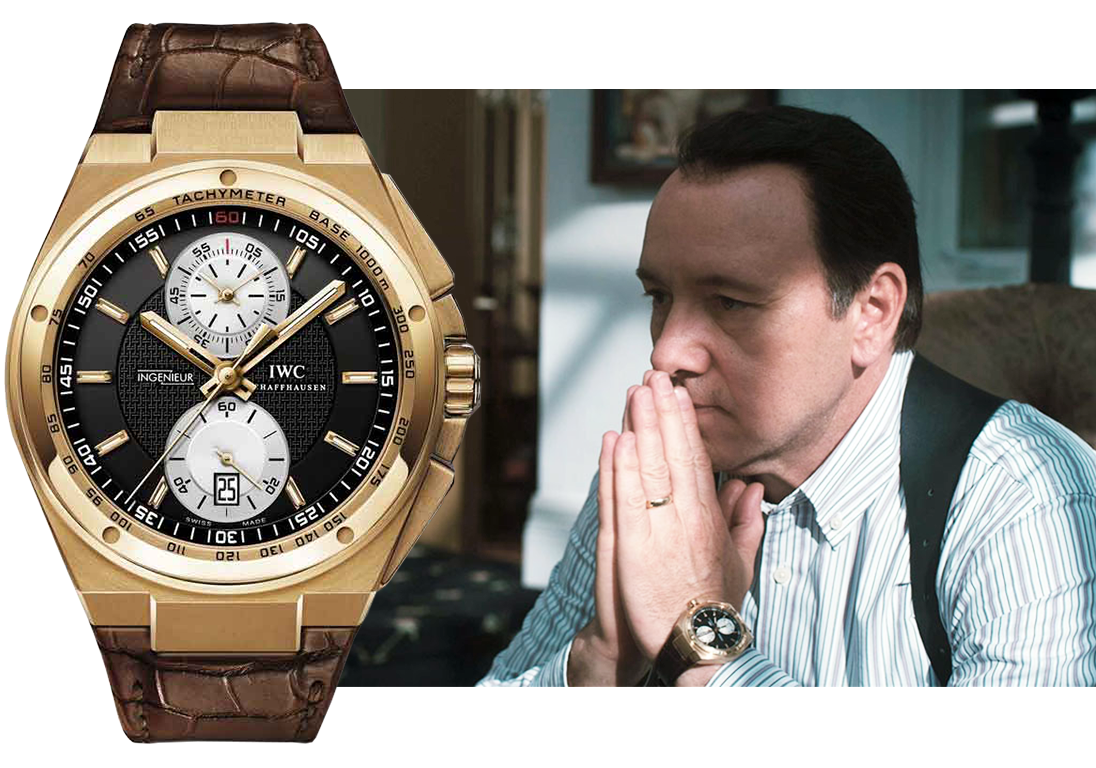 "Кадр из кинофильма ""Казино Джек"" (2010), часы IWC Big Ingenieur Chronograph Watch Photograph. Изображения: Hannibal Pictures Rollercoaster Entertainment, пресс-служба IWC"