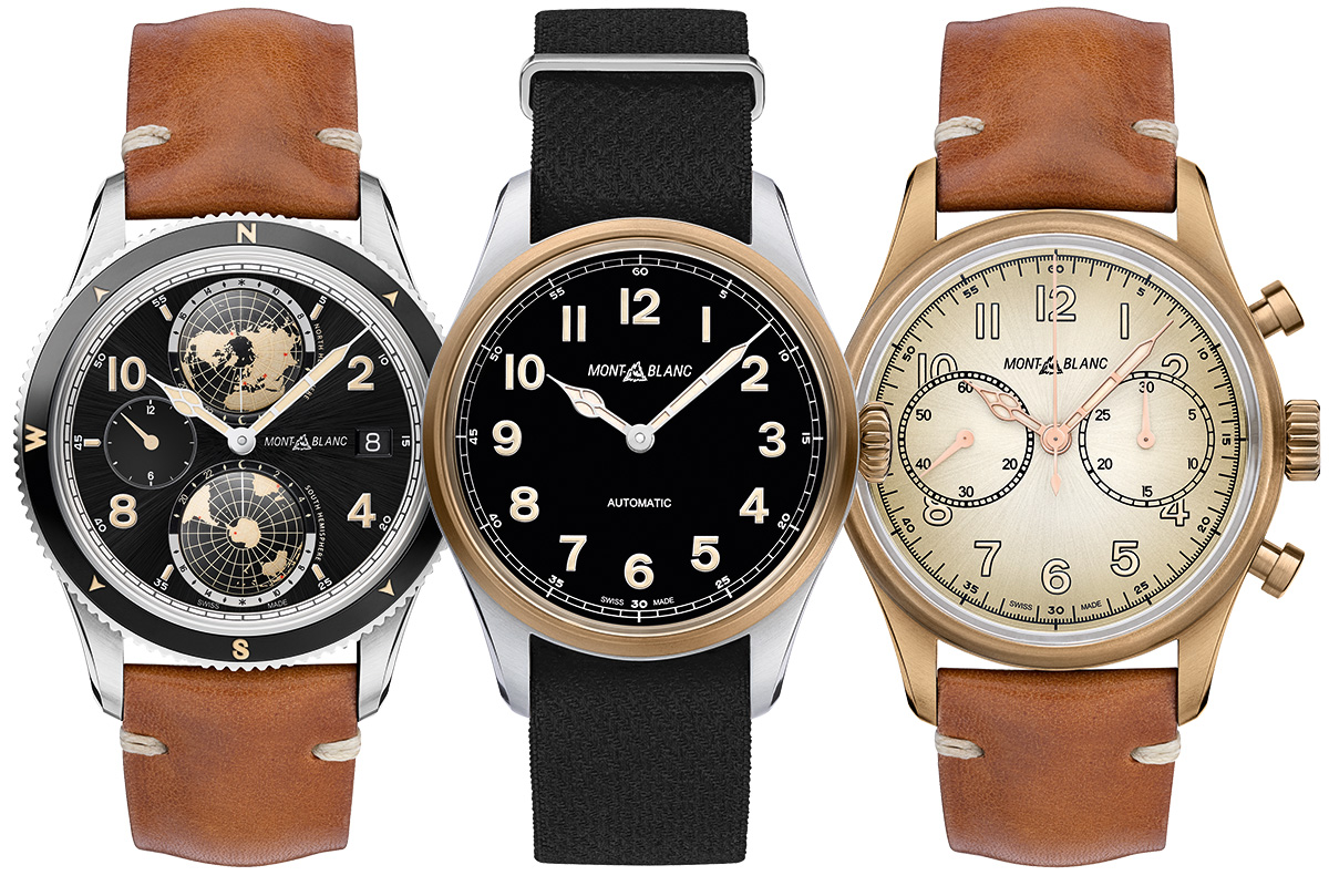 Montblanc 1858 Geosphere, Montblanc 1858 Automatic, Montblanc 1858 Automatic Chronograph