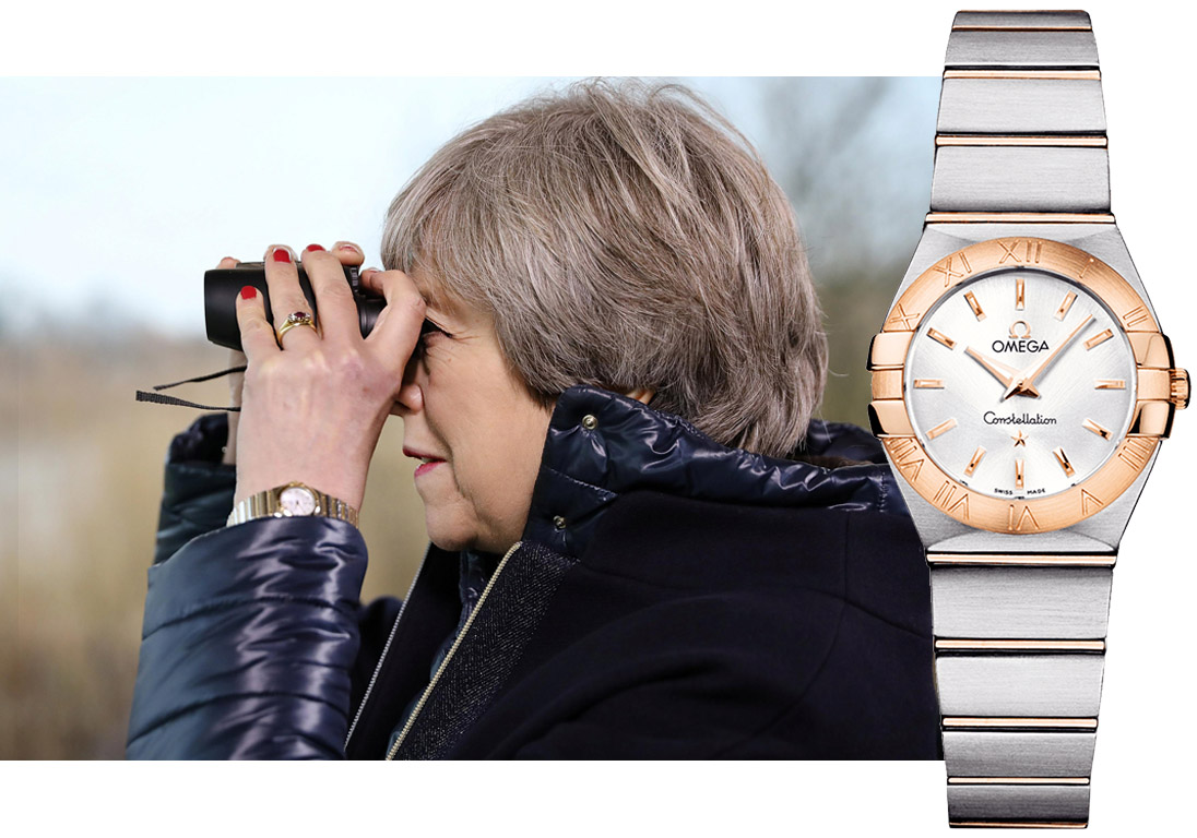 Theresa May – Omega Constellation 24mm Steel & 18ct Red Gold