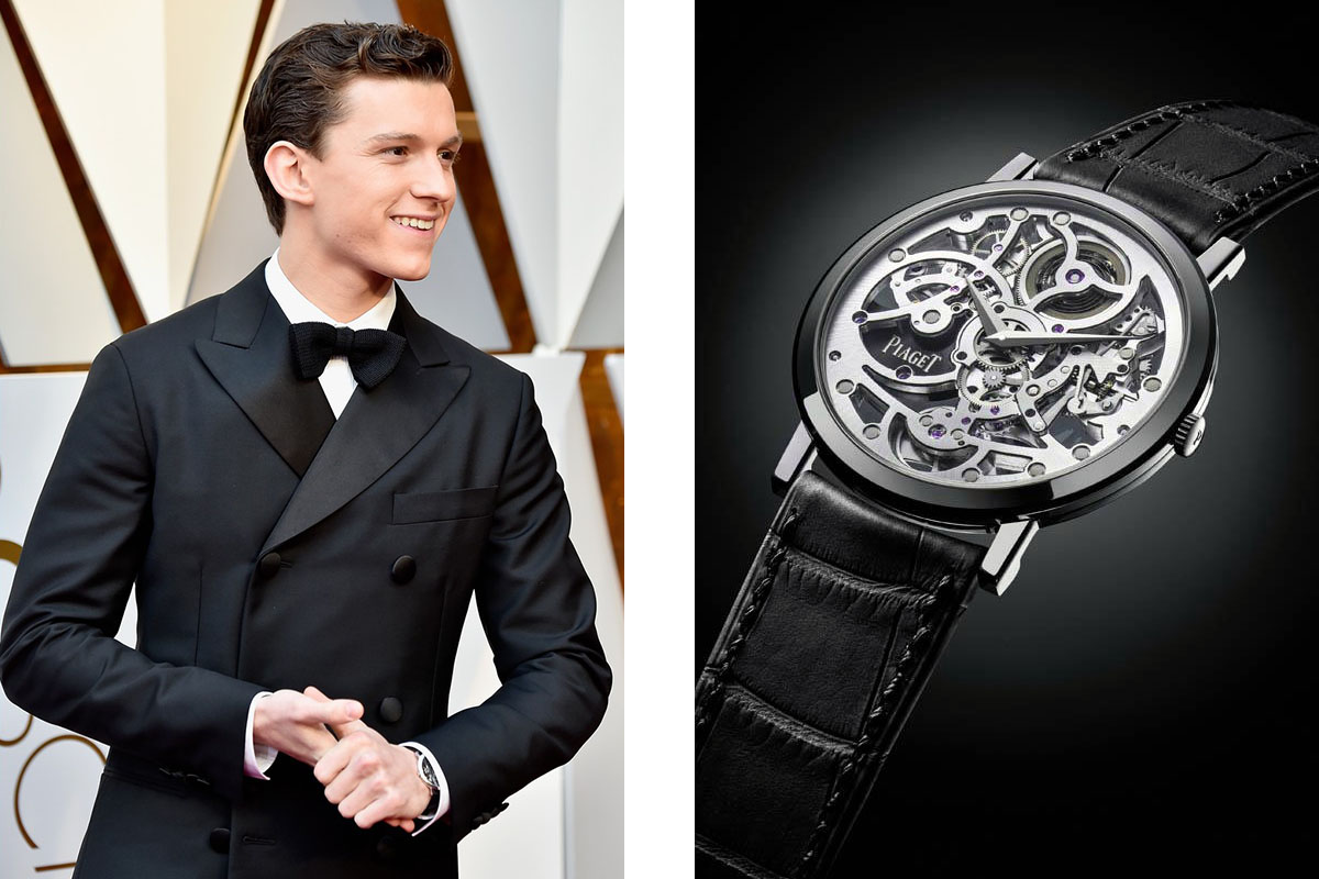 Том Холланд (Tom Holland) в часах Piaget Altiplano Skeleton Ultra-Thin Automatic