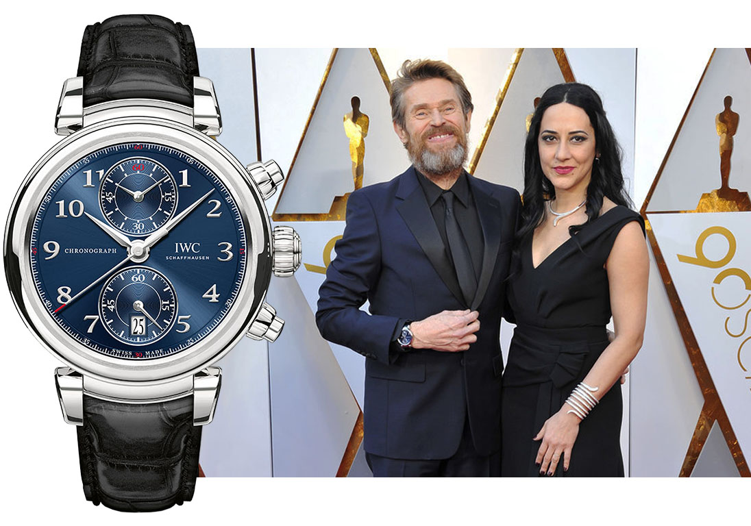 "Уильям Дефо (Willem Dafoe) в часах IWC Da Vinci Chronograph Edition ""Laureus Sport for Good Foundation"""