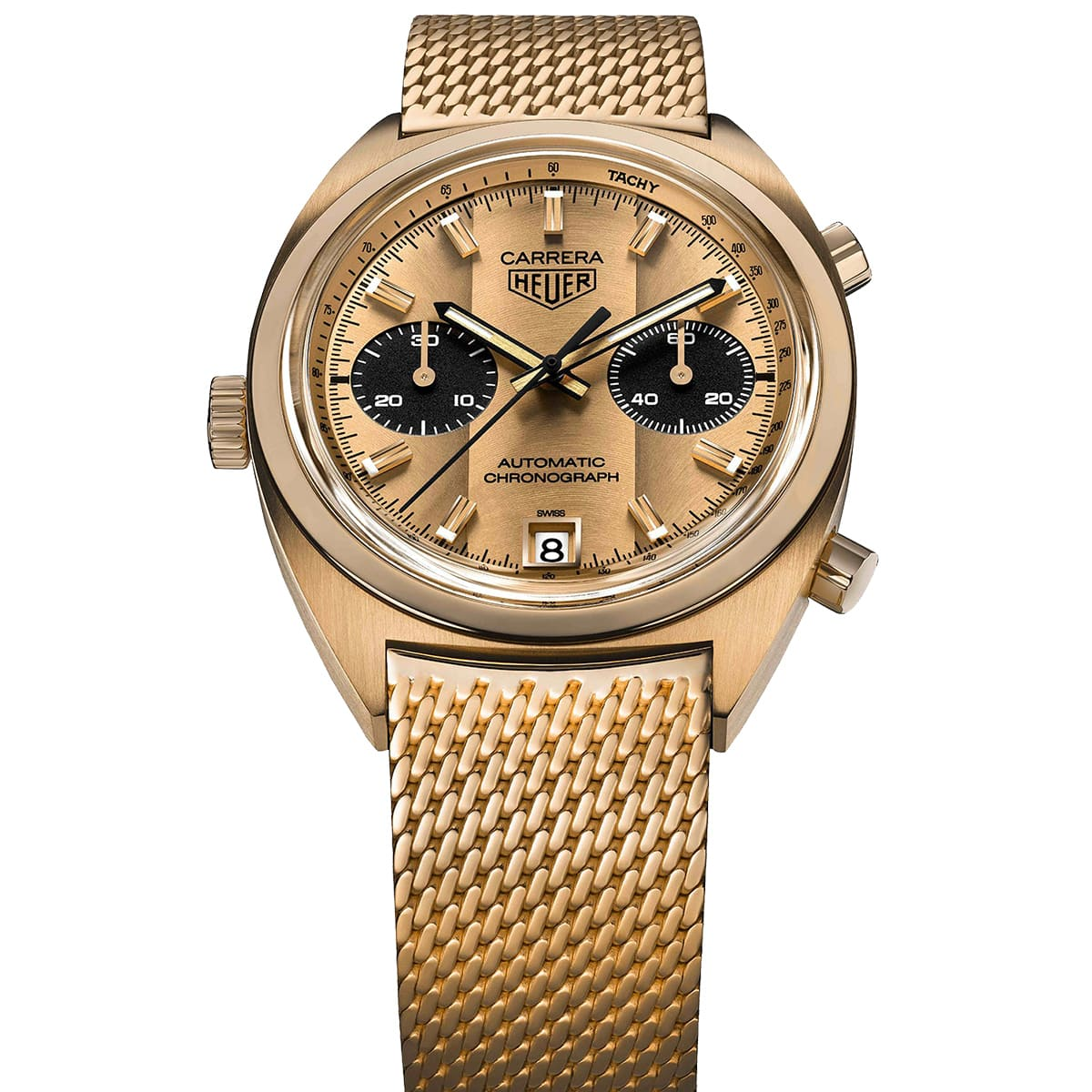 Formula One Driver Ronnie Peterson's Gold Heuer Carrera Ref. 1158