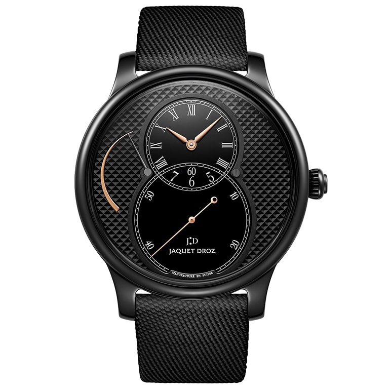 Jaquet Droz Grande Seconde Power Reserve Ceramic Clous de Paris