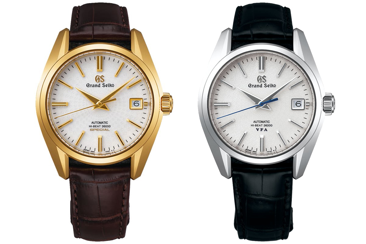 Grand Seiko Caliber 9S 20th Anniversary Gold Special, Grand Seiko Caliber 9S 20th Anniversary Platinum VFA
