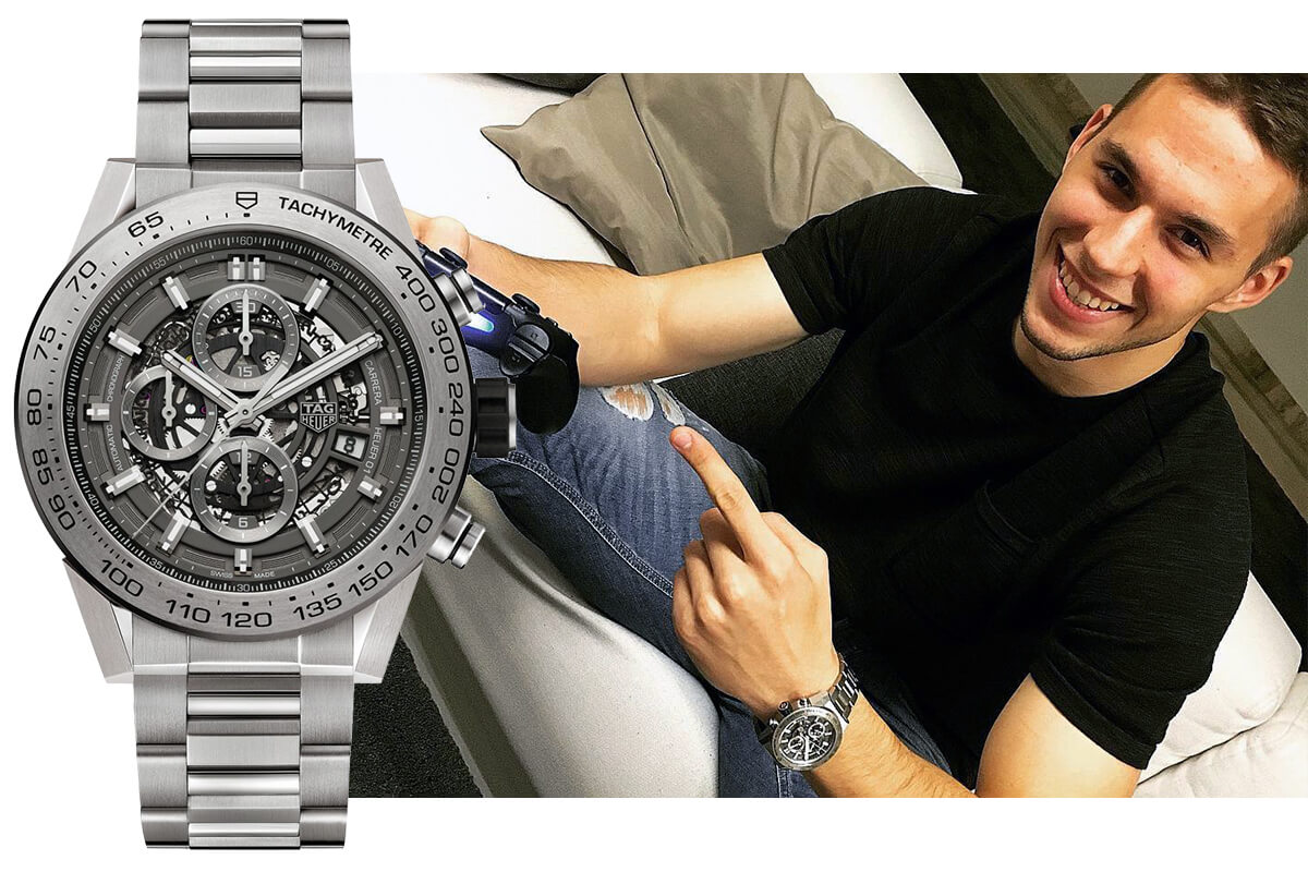 Марко Пьяца в часах TAG Heuer Carrera Calibre Heuer 01 Titanium Grey Phantom