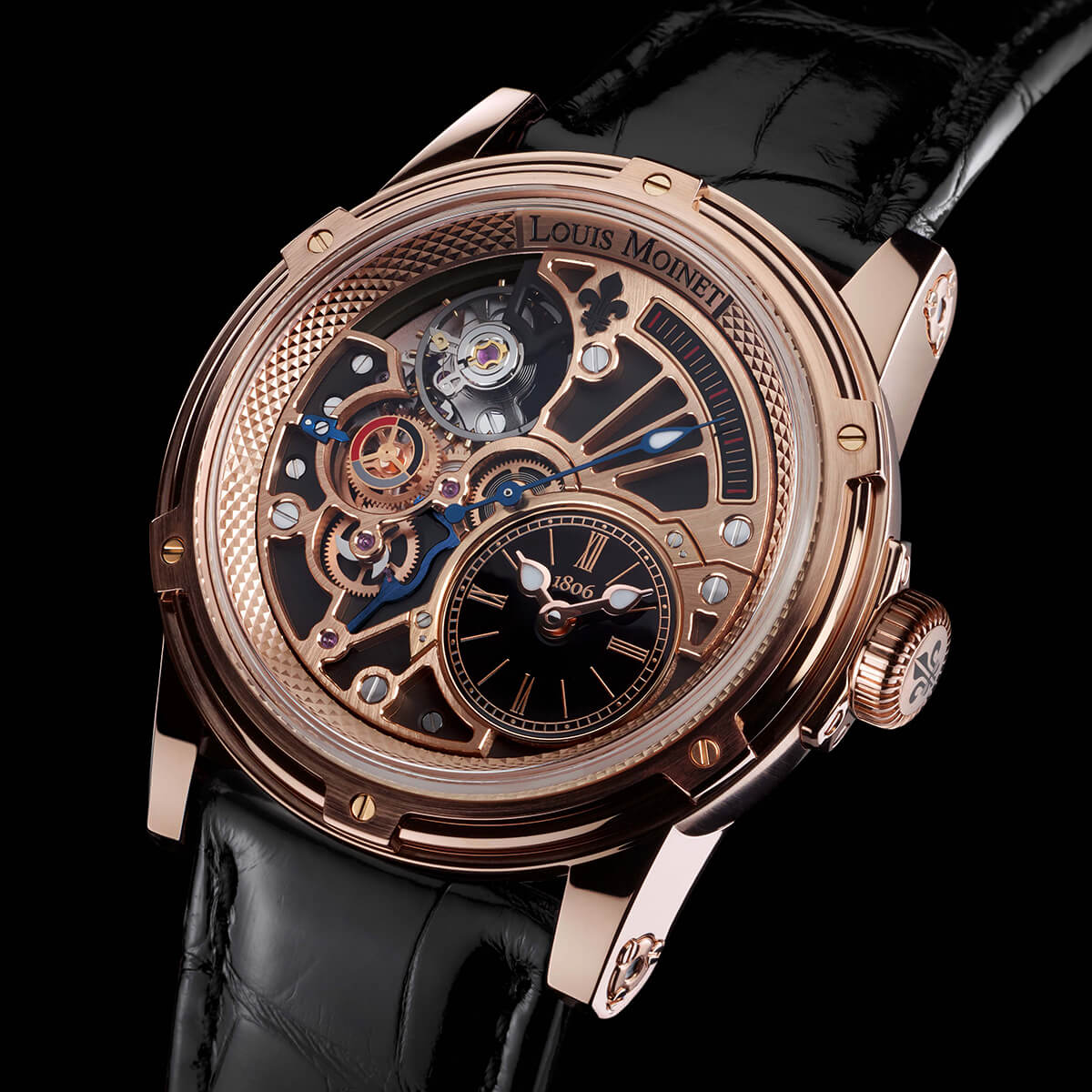 Louis Moinet Tempograph Chrome Rose Gold