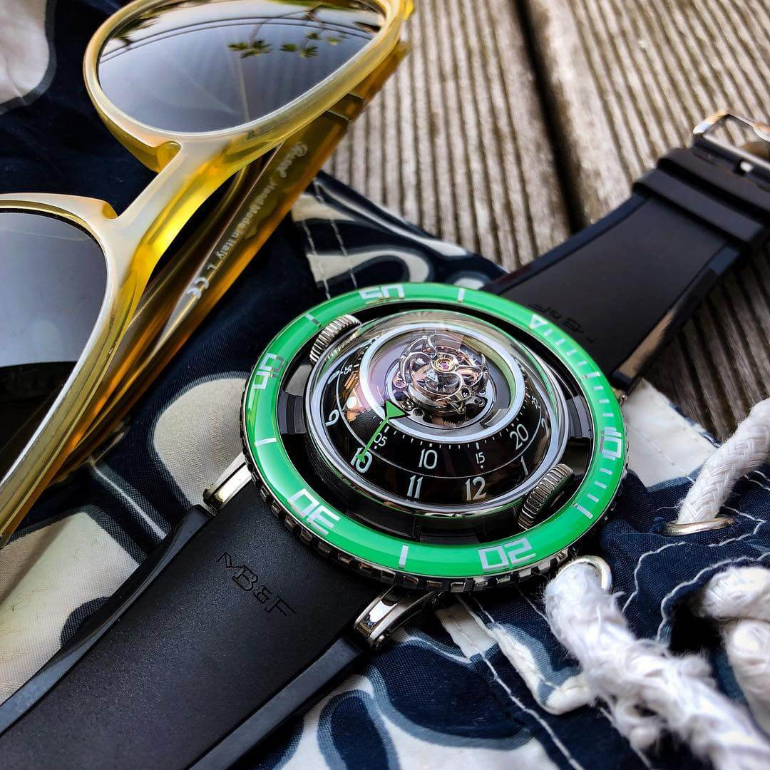 MB&F HM7 Aquapod Ti Green