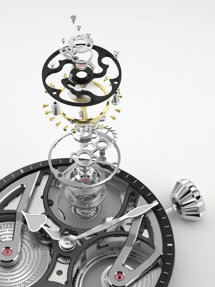 Speake-Marine One & Two Openworked Flying Tourbillon